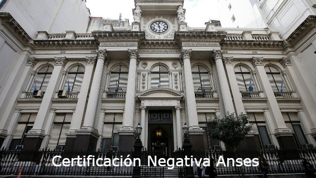 certificación negativa Anses