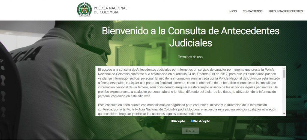 consultar certificado antecedentes judiciales de la policía