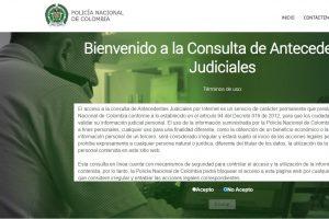 Consultar Certificado Antecedentes Judiciales de la Policía de Colombia