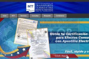 Registrar Vehículo y Licencia en INTT