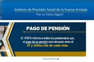 Consultar Saldo IPSFA de Pensionados en línea