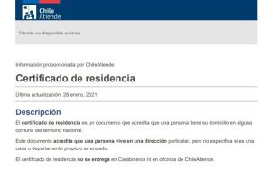 Solicitar el Certificado de Residencia en Chile