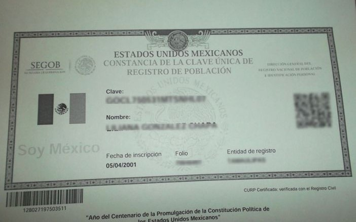 Requisitos para consulta CURP