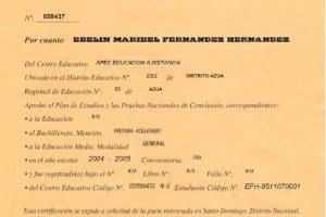 Descargar Certificado de Bachiller de República Dominicana