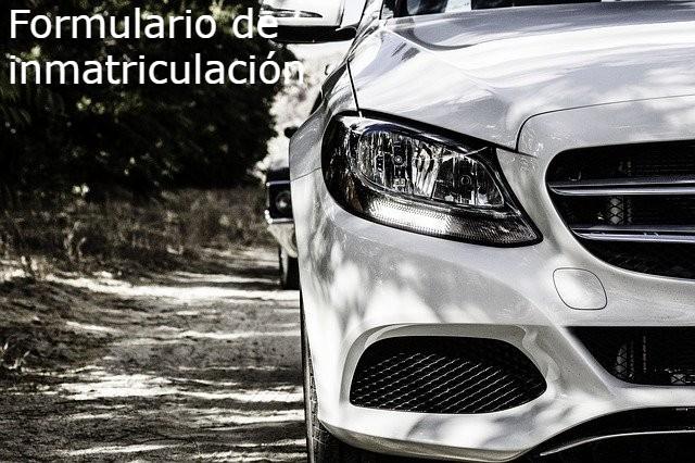formulario de inmatriculación vehicular