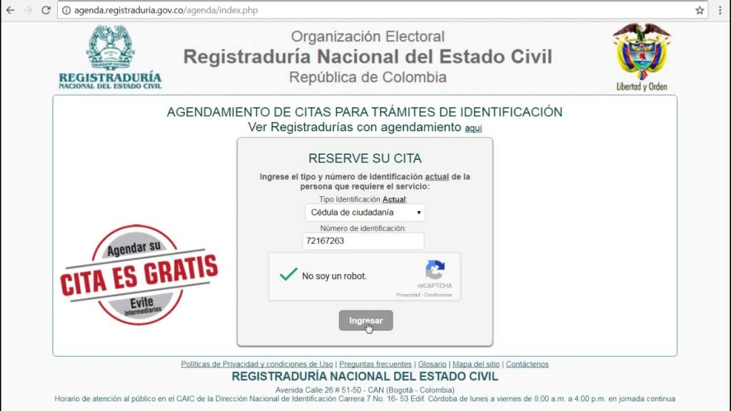 registradurias en colombia