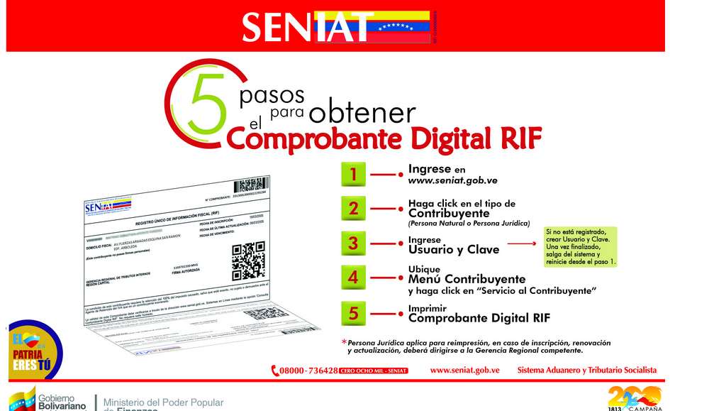 comprobante digital RIF