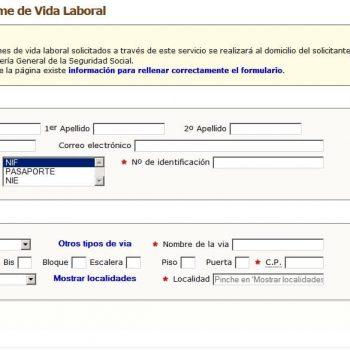 pedir vida laboral en España